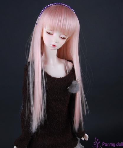 FM/1093#Pink Cream 가발